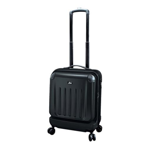 Juscha High Quality Trolley Bag ABS/Polycarbonate Handles (Black)