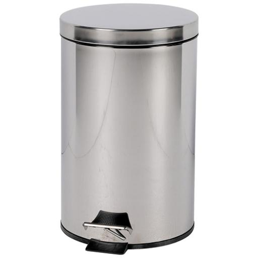 Pedal Bin with Removable Plastic Liner 12 Litre Stainless Steel