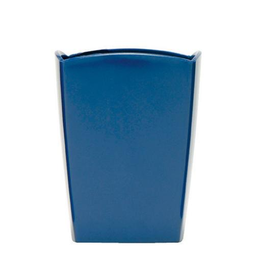 5 Star Elite Pencil Pot W74xD74xH95mm Cobalt Blue