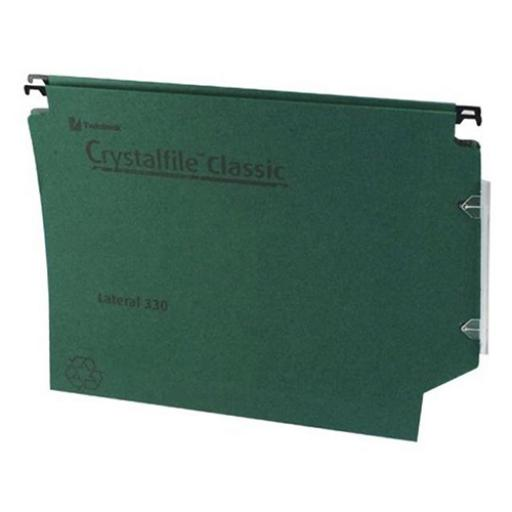 Rexel Crystalfile Classic Linking Lateral File Manilla 30mm Base Foolscap Green Ref 3000109 [Pack 25]