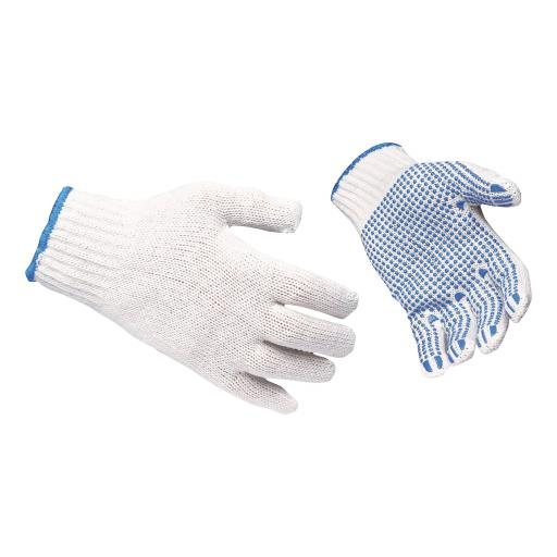 Polka Dot Gloves EN420 & EN388 Certification Large Blue Large [12 Pairs]