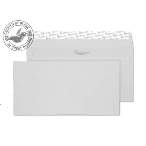 Blake Premium Envelope Wallet P&S Smooth Diamond White DL Ref 36882 [Pack 500] [Free Paper] Jan-Mar 2018