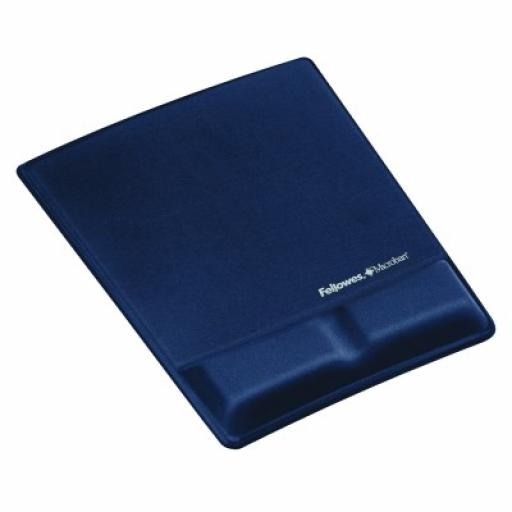 Fellowes Professional Fabric Mouse Pad Wrist Rest Microban Cushioned Sapphire Ref 9183901