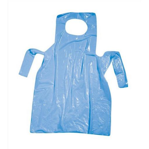 Polythene Aprons On Roll Disposable Perforated 17 Micron 690x1170mm Blue [Pack 200]