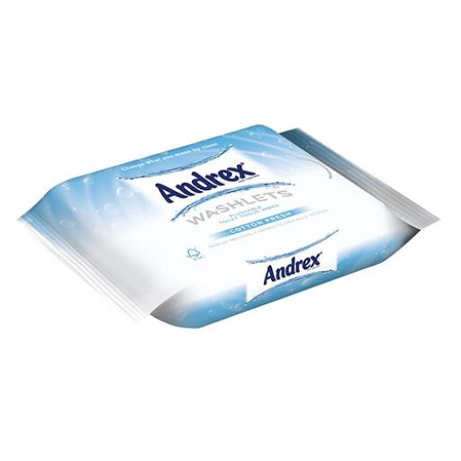 Andrex Toilet Tissue Moist Washlets Flushable 42 Sheets 190x130mm Cotton Fresh Ref 0699204 [Pack 1]