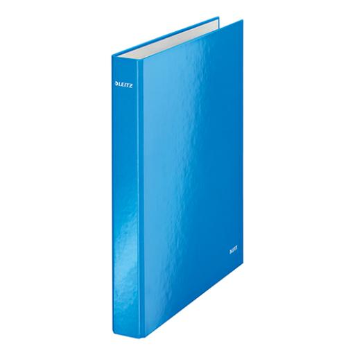 Leitz WOW Ring Binder 2 D-Ring 25mm Size A4 Blue Ref 42410036 [Pack 10] [COMPETITION]