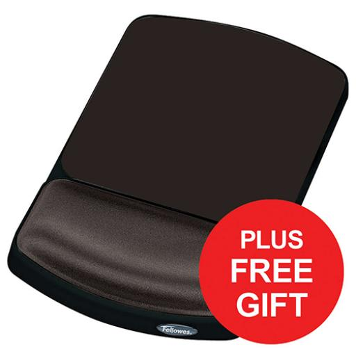 Fellowes Height Adjustable Gel Mouse Pad Graphite Ref 9374001 [FREE Keyboard Rest] Apr-Jun 2018