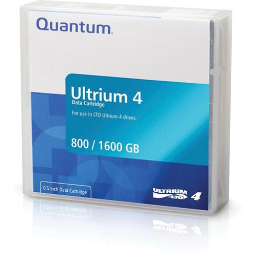 Quantum LTO4 Data Tape 800GB Native/ 1.60TB Compressed Ref MR-L4MQN-01S