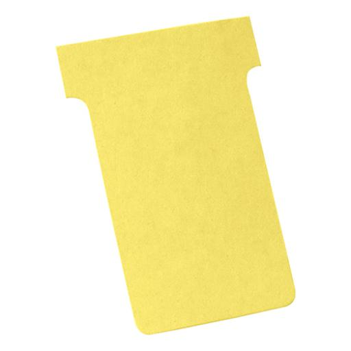 Nobo T-Cards 160gsm Tab Top 15mm W61x Bottom W48.5x Full H86mm Size 2 Yellow Ref 2002004 [Pack 100]