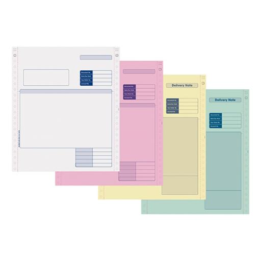 Sage Compatible Invoice 4 Part NCR Paper with Tinted Copies Ref SE04 [Pack 500]