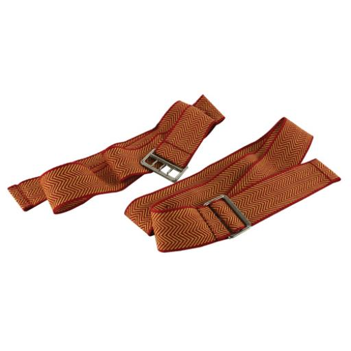 Document Strap With 3-Pronged Buckle 900mm Red and Gold (Pack of 6) STRAPSRED/YE