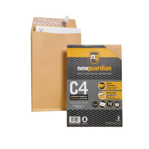 New Guardian Envelopes C4 Gusset Retail Pack Ref R10003 [Pack 10]