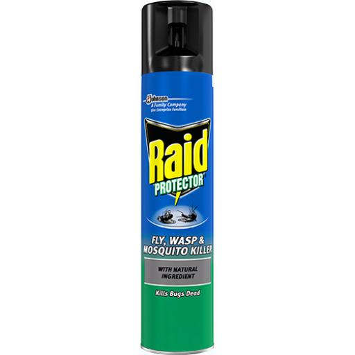 Raid Fly Wasp & Mosquito Killer Aerosol 300ml Ref 95824