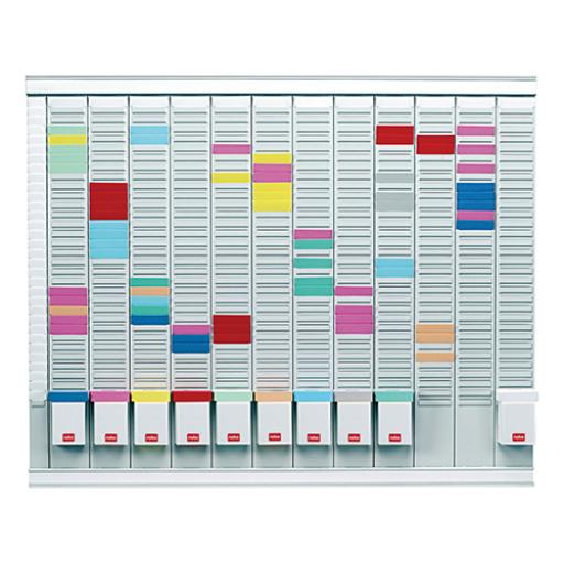Nobo Maxi T-Card Kit 12 Month Planner Index Panel 12 Columns 32 Slots Cards Links Inserts Ref 32938864