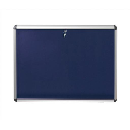 Nobo Display Cabinet Noticeboard Visual Insert Lockable A1 W907xH661mm Blue Ref 1902048