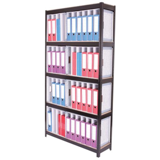 Storage Solutions Black Boltless 5-Shelf Lever Arch File Unit STS834450