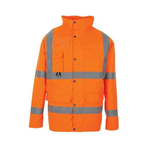 High Visibility Breathable Jacket Multifunctional Small Orange *Approx 2/3 Day Leadtime*