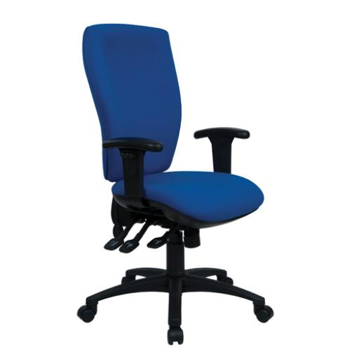Cappela Deluxe Square High Back Posture Blue Chair KF03616