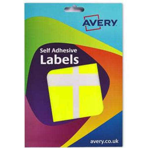 Avery (50x80mm) Wallet Of Labels (Florescent Yellow) Pack of 120 Labels