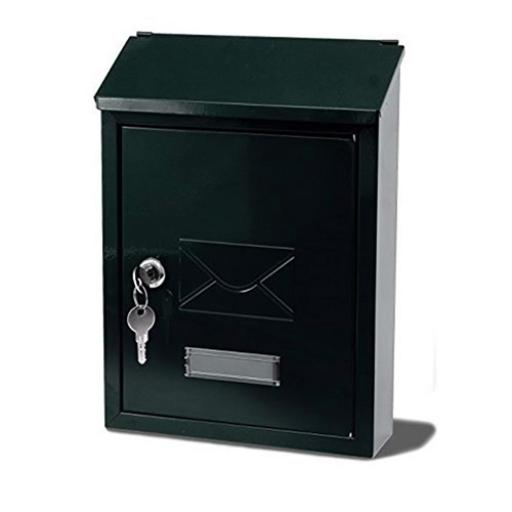 G2 Avon Post or Suggestion Box Steel 2 Keys Fixing Kit 220x75x300mm Black Ref Avon Black