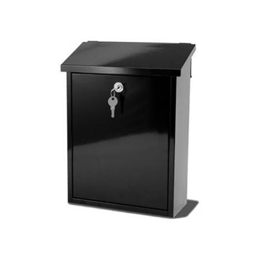 G2 Liffey Post Box Wall Mounted Steel 2 Keys Fixing Kit A4 Slot 270x120x365mm Black Ref Liffey Black