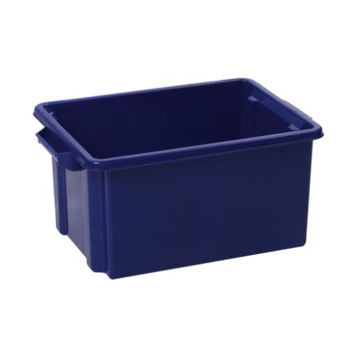 Strata Storemaster Midi Crate External W360xD270xH190mm 14.5 Litres Blue Ref HW44