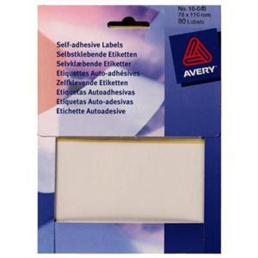 Avery 16-009 White Labels in Wallets [Pack 1632]