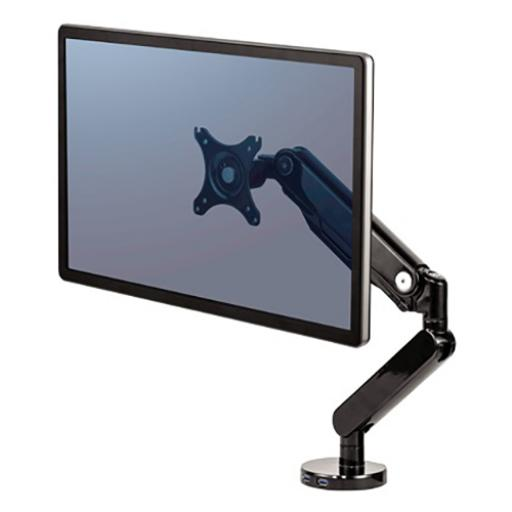 Fellowes Platinum Series Single Monitor Arm 360-degree Rotation Ref 8043301 [REDEMPTION]