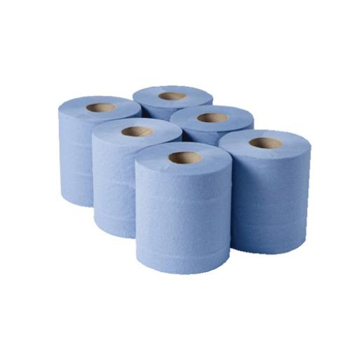 1 Ply Blue Centrefeed Rolls 290mx180mm (Pack of 6) CBL290S