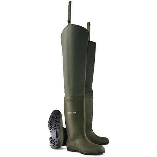 Dunlop Thigh Wader Non Safety Green 06