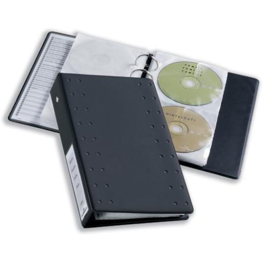 Durable CD and DVD Pocket for A4 Index Ring Binder Capacity 2 Disks Clear Ref 520319 [Pack 5]