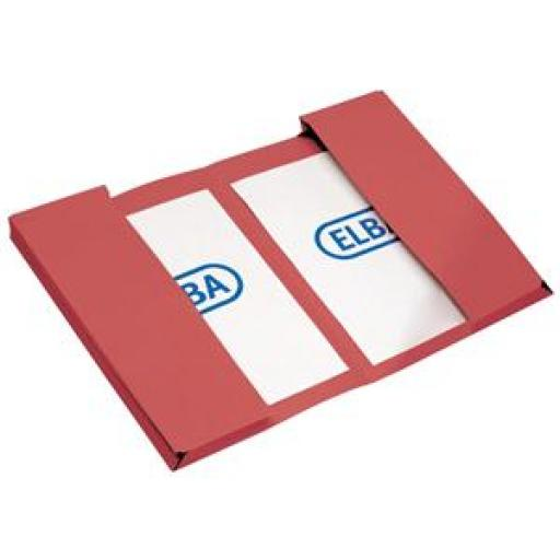 Elba (Foolscap) Twin Pocket Document Wallet Heavyweight 320gsm 400-Sheets Red (Pack of 25)