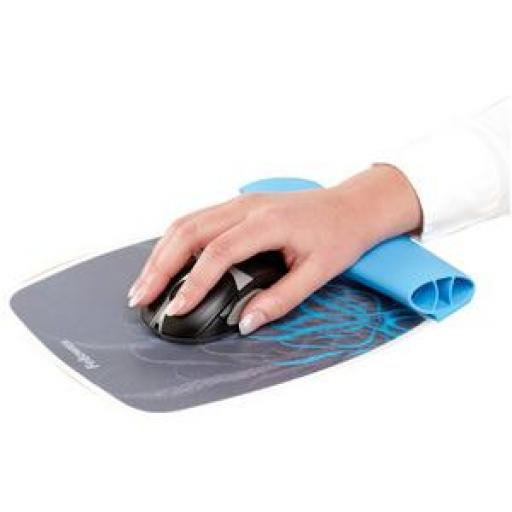 Fellowes Silicone Wrist Rocker and Mouse Pad (Feeler Pattern)