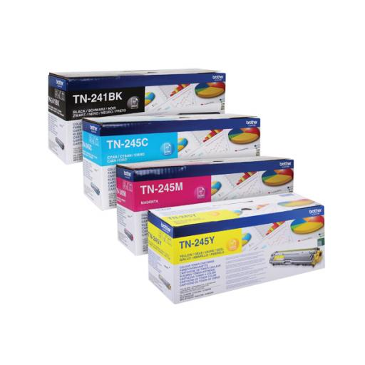 Brother TN245 Toner Cartridge Bundle Cyan/Magenta/Yellow/Black (Pack of 4) BA810615