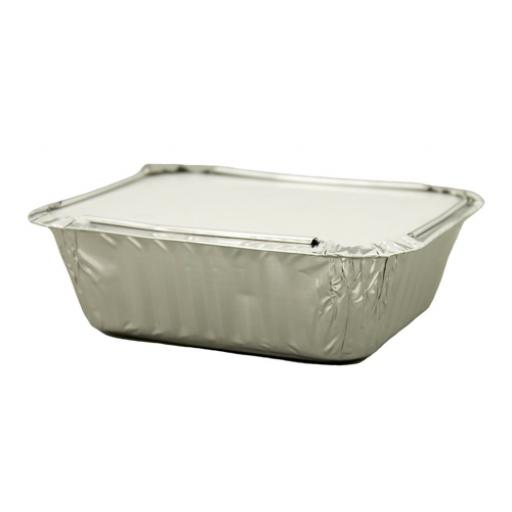 Caterpack Foil Food Container with Lid W125xD100mm Ref 03885 [Pack 46]