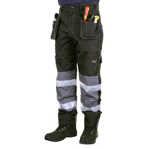 B-Dri Weatherproof Banbury Multi Pocket Trousers Black 46T