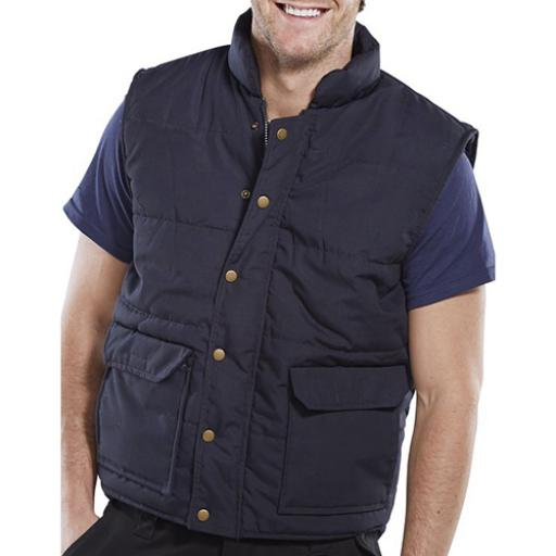 Click Workwear Quebec Bodywarmer Navy Blue S