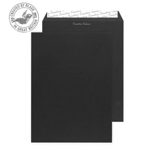 Blake Creative Colour C4 Gusset 25mm P&S 140gsm Jet Black Ref 9140 [Pack 125]