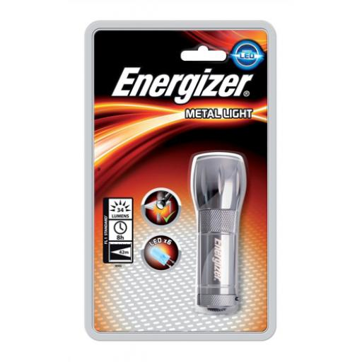 Energizer Small Metal LED Torch 3AAA Ref 633657 *2017 Mailer*