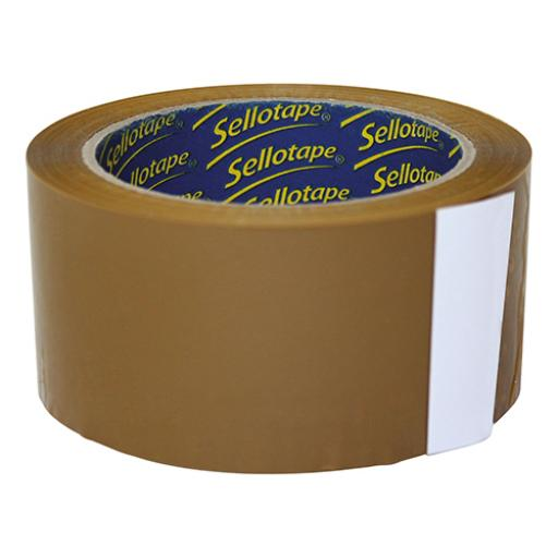 Sellotape Case Sealing Tape Vinyl 50mm x 66m Buff Ref 0246 [Pack 6] [4 For 3] Jul-Sep 2018