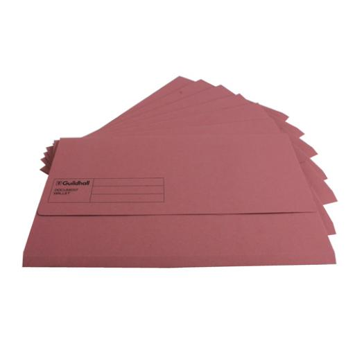 Guildhall Foolscap Pink Document Wallet Pack of 50 GDW1-PNK