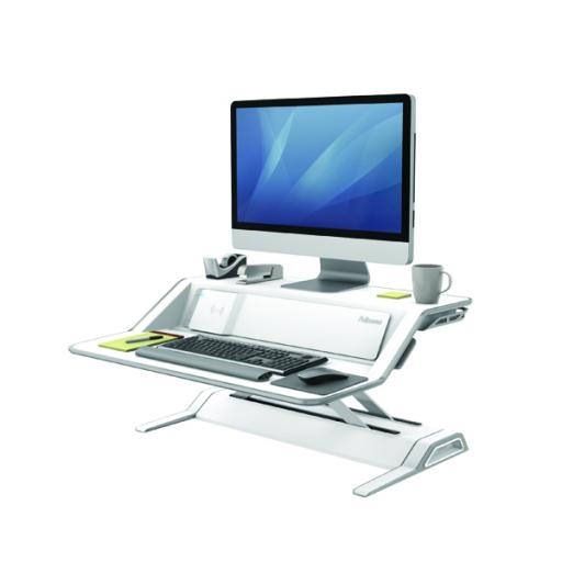 Fellowes Lotus DX Sit-Stand Workstation White 8080201