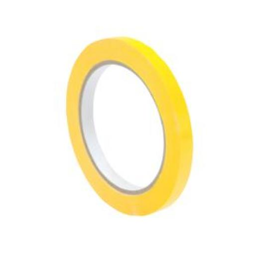 Bag Sealer Vinyl Tape (9mm x 66m) Yellow Pack of 6