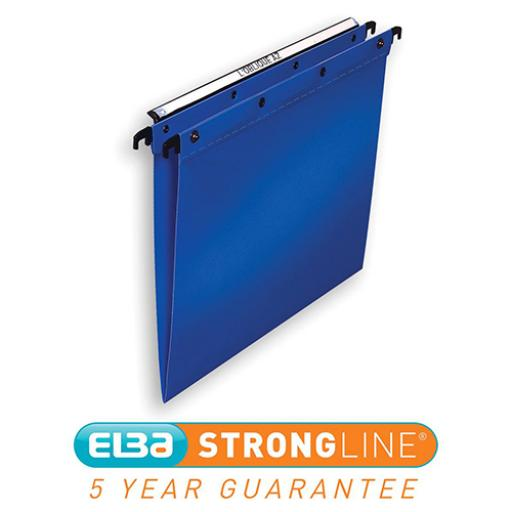Elba Ultimate Linking Suspension File Polypropylene 15mm V-base Foolscap Blue Ref 100330370 [Pack 25]
