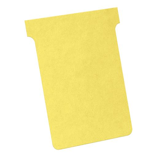 Nobo T-Cards Size 3 (Yellow) - 1 x Pack of 100 T-Cards