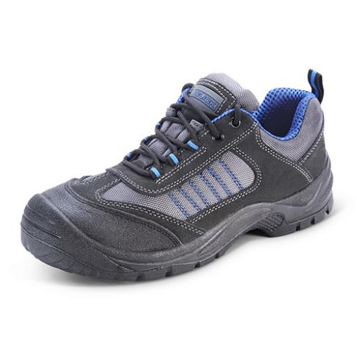 Click Footwear Mesh Active Trainer Shoe Black/Blue 10