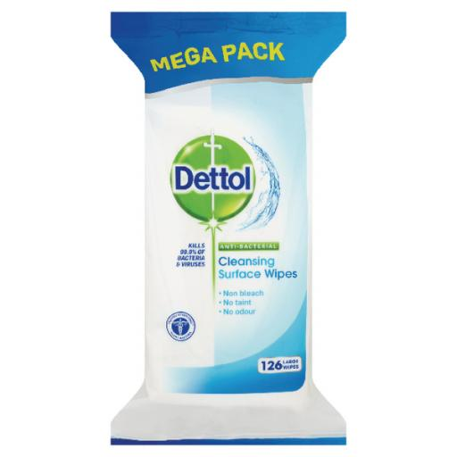 Dettol Antibacterial Surface Cleanser Wipes (Pack of 126) 3011051