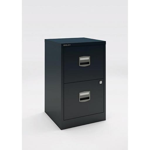 Trexus A4 2 Drawer Cabinet Black 413x400x672mm Ref 678081