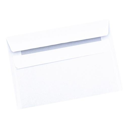 5 Star Office Envelopes C6 Recycled Wallet Self Seal 80gsm Retail Pack White [Pack 50]
