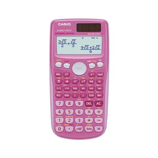 Casio Scientific Calculator Natural Display 260 Functions 80x13.8x162mm Pink Ref FX85GTPLUSPink